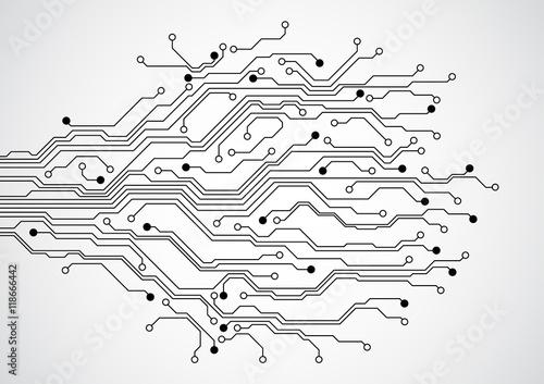 Fotografiet Abstract futuristic technology circuit board concept background , vector illustr