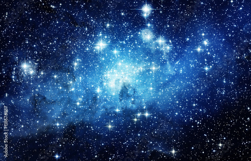 Spoed Foto op Canvas Heelal Universe filled with stars, nebula and galaxy. Elements of this image furnished by NASA.