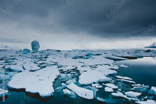 Foto op Aluminium Poolcirkel Islandia lodowiec