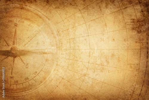Tuinposter Schip Pirate and nautical theme grunge background