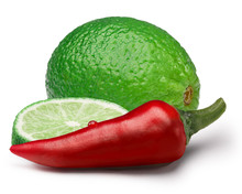Red Chili Pepper With Lime, Paths