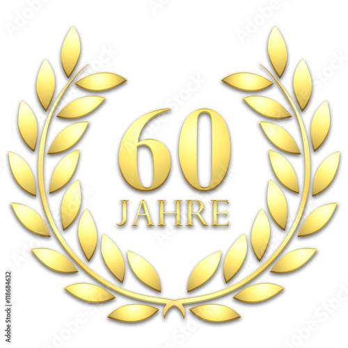 Lorbeerkranz. Gold. 60 jahre Poster