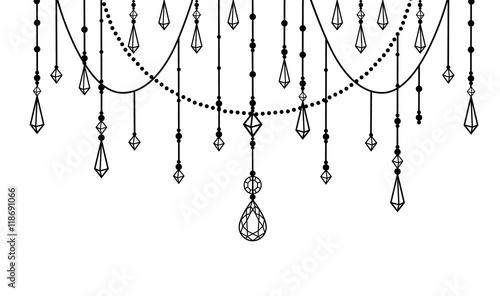 Foto auf AluDibond Boho-Stil isolated beads and crystals