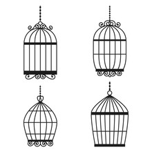 Silhouette Birdcages Collection Set.
