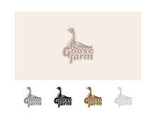 Goose Logo Vector Illustration