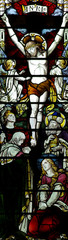 Naklejka Jesus Christ crucified (stained glass)