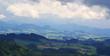 Aerial view of Switzerland rural areas.