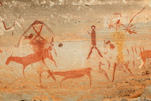Bushmen (san) Rock Painting Of...