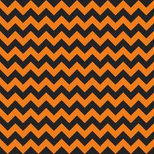 Halloween Chevron Seamless Pattern