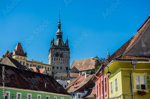Fotografie, Obraz  Famous Clock Tower in Sighisoara town in Romania