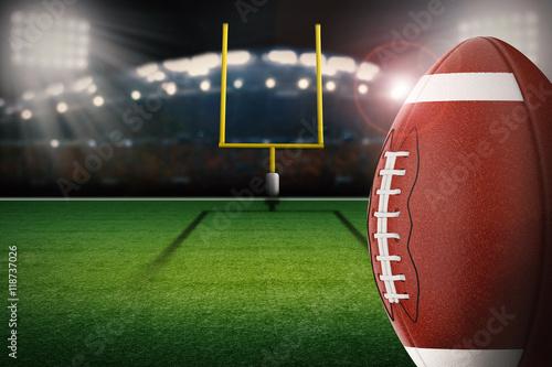 Fotografia, Obraz  football on field with field goal post