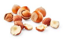 Hazelnuts Isolated On White Ba...