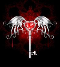Key With Vampire Heart