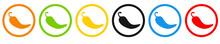 Bunte Chilli Buttons Simpel In Verschiedenen Farben