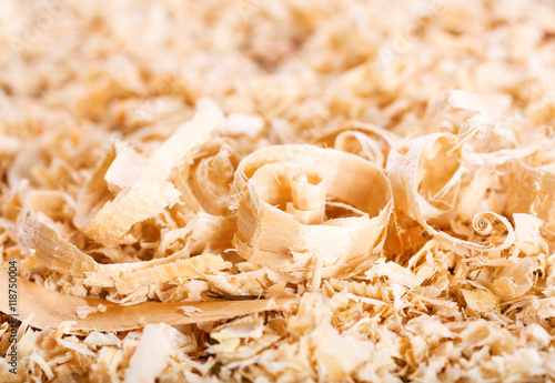 Fotografie, Obraz  wood sawdust as background