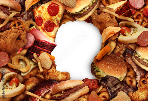 Fotografie, Obraz  Eating Fatty Food