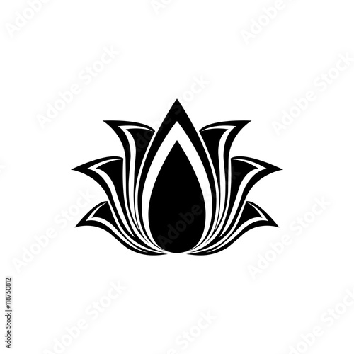Abstract Vector Lotus Flower Silhouette For Design Buy This Stock