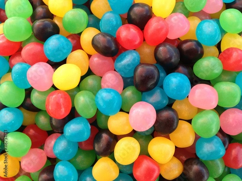 Poster Snoepjes fond bonbons gomme,multicolores