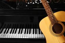 Guitar With Piano, Close Up