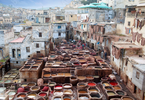 Tannery souk in Fez, Morocco