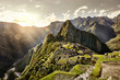 MACHU PICCHU, PERU - MAY 31, 2015: View of the ancient Inca City