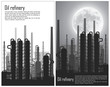 Set of Oil and gas refinery flyers