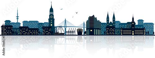 Fotomural  Hamburg Skyline