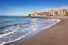 Scenic View Of Valle Gran Rey Beach In La Gomera, Canary Islands, Spain.
