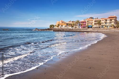 Scenic view of Valle Gran Rey beach in La Gomera, Canary islands, Spain Wallpaper Mural