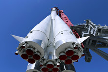 The Rocket Vostok On The Launc...
