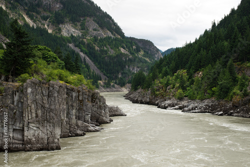 Printed kitchen splashbacks River Hells Gate, abrupt narrowing of British Columbia's Fraser River, located downstream of Boston Bar in the southern Fraser Canyon