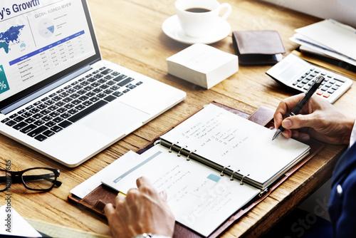 Fotografía  Business Plan Strategy Growth Success Concept