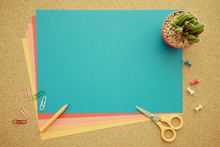 Colorful Paper And Office Acce...