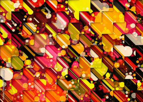 Fotografie, Obraz  Holiday manycolored backgrounds. Pacman style