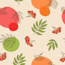 Rowan Berry Seamless Pattern G...