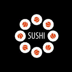 Obraz na Szkle vector sushi logo