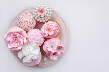 Pink Cupcakes. Wedding Sweets