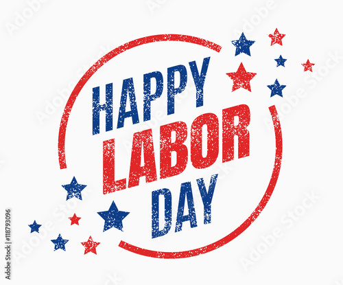Valokuva Labor day, Holiday in United States celebrated on first monday in September, vec