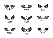 Wings Silhouette Logo Vector S...