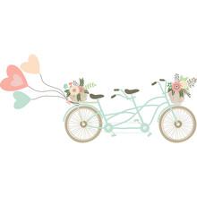 Wedding Bicycle With Balloons....