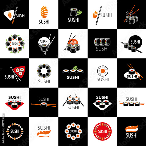 vector sushi logo - 118799606