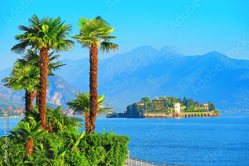 View of Isola Bella, Lake Maggiore, Italy