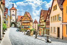 Medieval Town Of Rothenburg Ob...