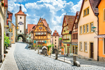 Medieval town of Rothenburg...