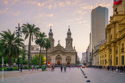 Plaza de las Armas square in Santiago Canvas Print