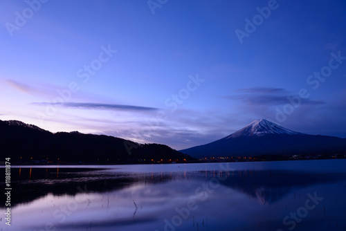 Aluminium Prints Mt.Fuji and Lake Kawaguchiko at dawn