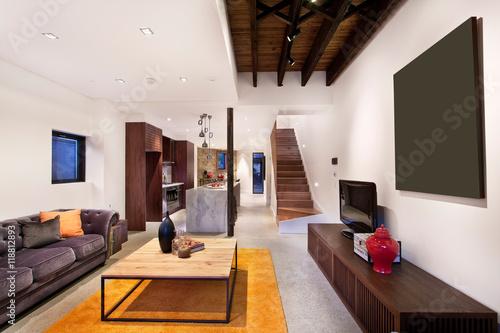 Foto op Plexiglas Trappen Beautiful Living room Architecture Stock Images