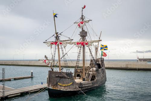 Santa Maria de Colombo historical ship replica, Madeira island.