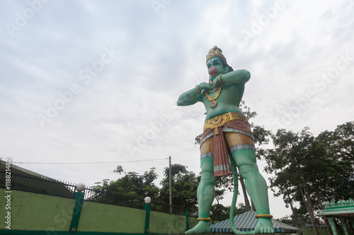 Hanuman statue is a Hindu god which is located beside of the Batu Caves ,Kuala L Poster