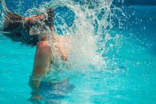 Young Man Splashing Water